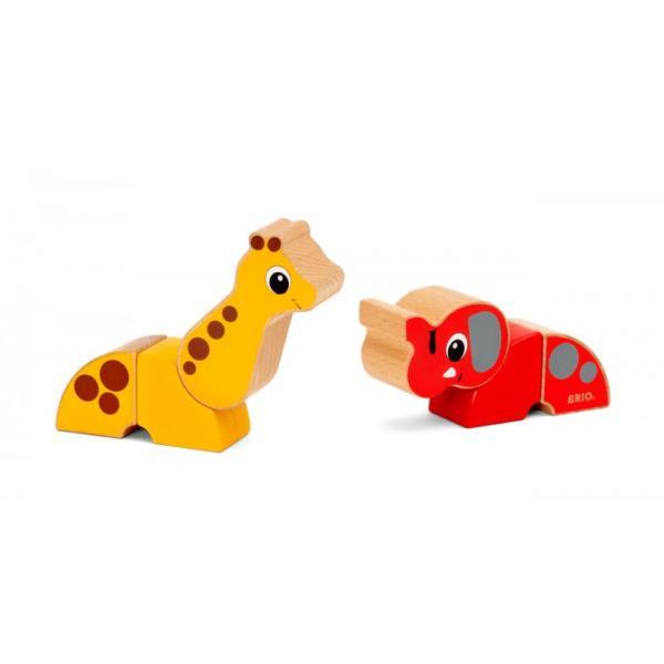Magnetická zvířátka žirafa a slon