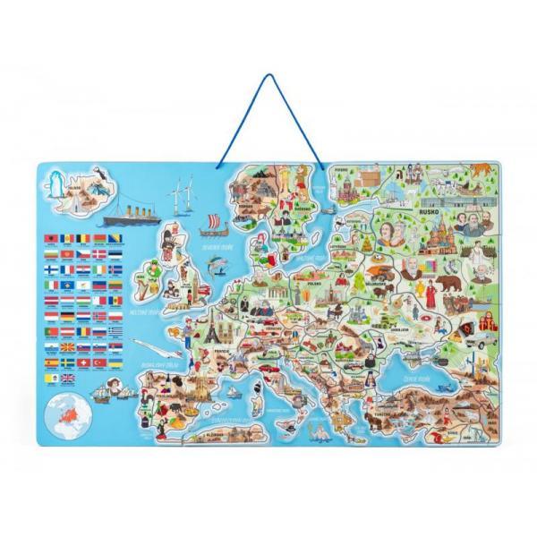Magnetická mapa EVROPY, společenská hra 3 v 1, ČJ