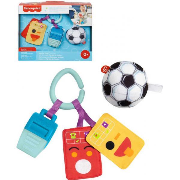 FISHER PRICE Baby set píšťálka s míčem a trestnými kartami pro malé fotbalisty