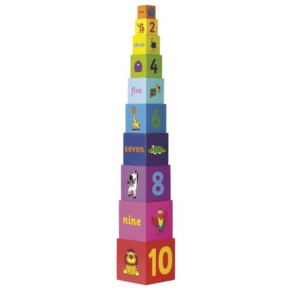 Tidlo Věž ze skládacích kostek Rainbow