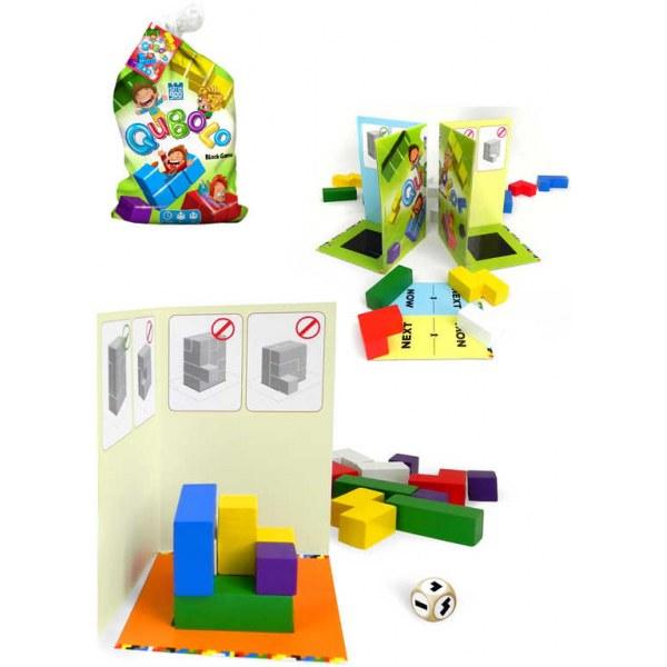 BONAPARTE DŘEVO Hra kostky dřevěné Qubolo 3D *SPOLEČENSKÉ HRY*