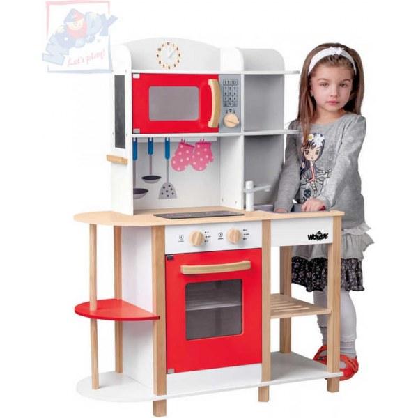 WOODY DŘEVO Kuchyňské studio Wendy herní set kuchyňka s nádobím a doplňky