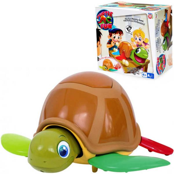 Hra Turtle Fun želva zábavná plastová 22cm set s vajíčky 22cm na baterie Zvuk