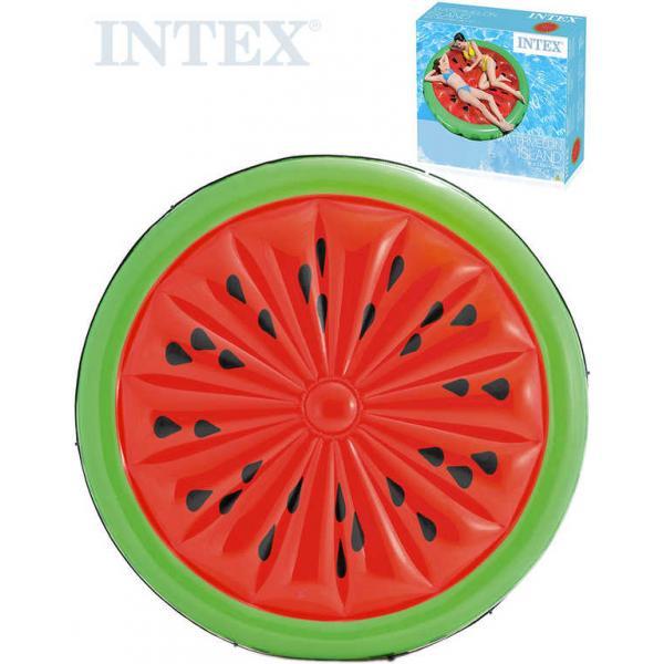 INTEX Lehátko nafukovací Meloun 183cm matrace na vodu s úchyty s lanem 56283