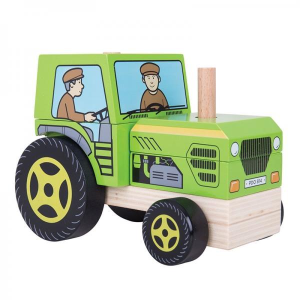 Bigjigs Baby Nasazování traktor