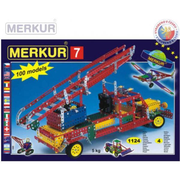 MERKUR M7 Velká sada 1124 dílků *KOVOVÁ STAVEBNICE*