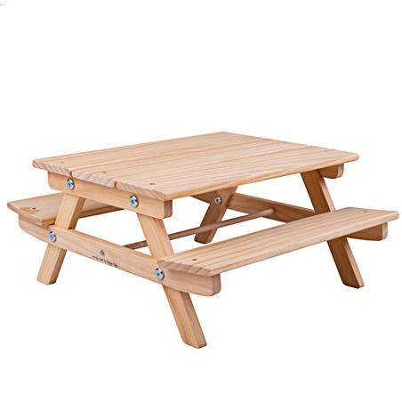 Bigjigs Toys Dřevěná pikniková lavička pro panenky