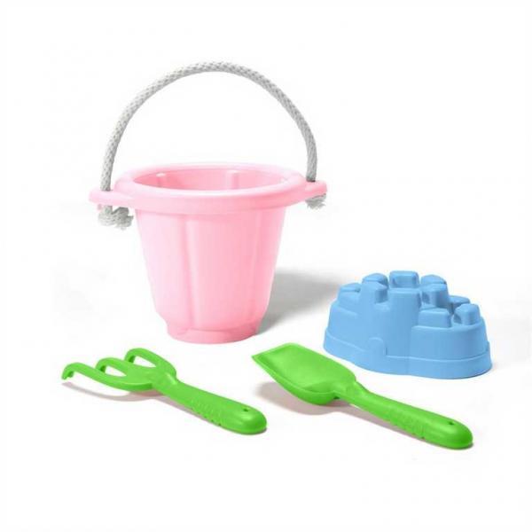 Green Toys Růžový set na písek