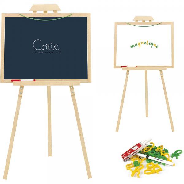 Jeujura Dřevěný stojan Creative s tabulí