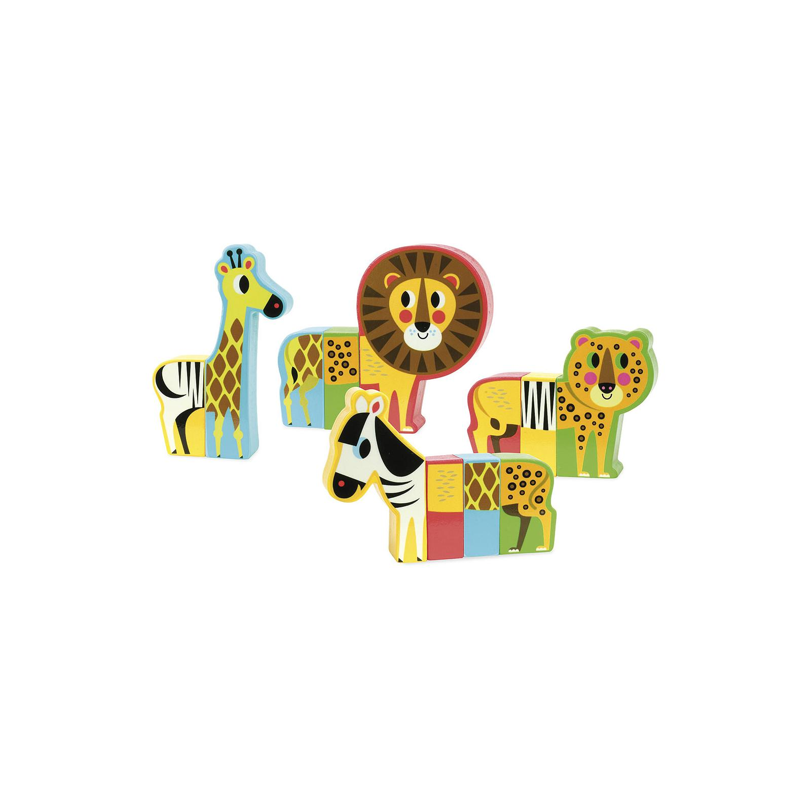 Vilac Dřevěné puzzle Veselé safari